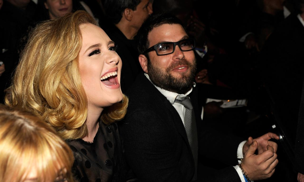 "The '<em>Someone Like You</em>' singer split with husband Simon Konecki earlier this year after three years of marriage. The pair had been dating five years prior to tying the knot and also share son Angelo, who was born in 2012. In October, Adele shared a photo of herself from Drake's birthday party <a href=""https://uk.news.yahoo.com/adele-weight-loss-pilates-one-stone-drake-birthday-party-pictures-103408627.html"">displaying a new look</a>. (Kevin Mazur/WireImage)"