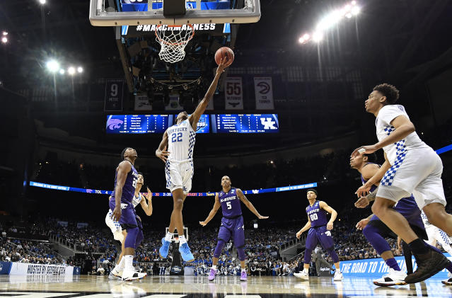Kentucky and Kansas State squared off in the second game of the South regional Thursday night. (AP)