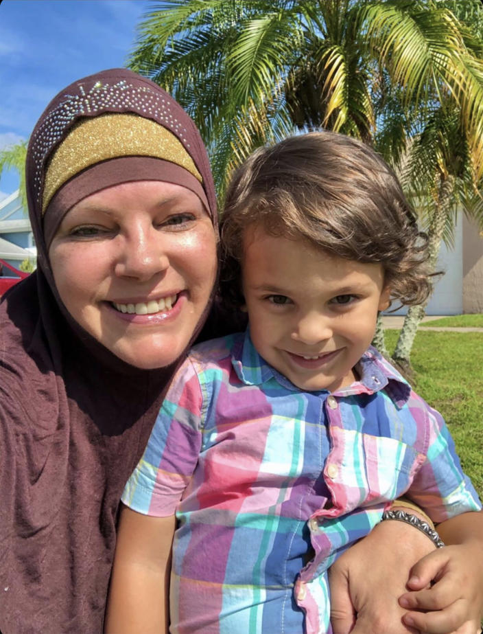 Jill Mraidi and her 3-year-old son Qasim. (Courtesy Jill Mraidi)