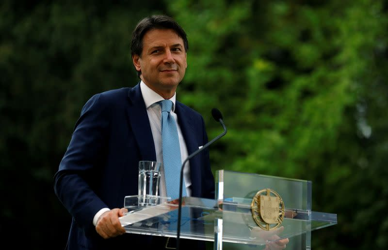 Italian PM Conte meets his Portuguese counterpart Costa in Lisbon