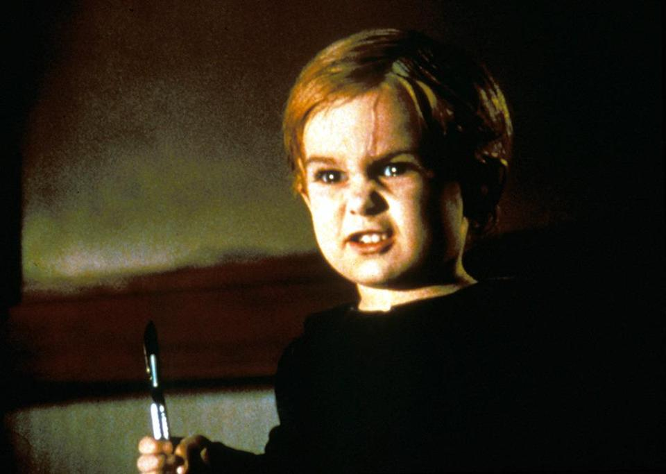 <p>He's the cute toddler in 1989's 'Pet Sematary' who dies horrifically after getting hit by a tractor-trailer. Based on a Stephen King novel of the same name, little Gage (played by Miko Hughes) comes back from the dead and does more than haunt: He kills. (Photo: Rex)<br></p>
