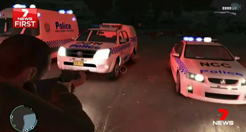 The game includes very life-like depictions of police vehicles. Photo: 7 News