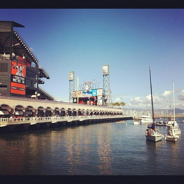 Boats are settling into McCovey Cove before Game 1 of the #WorldSeries (via @ysportsevan)