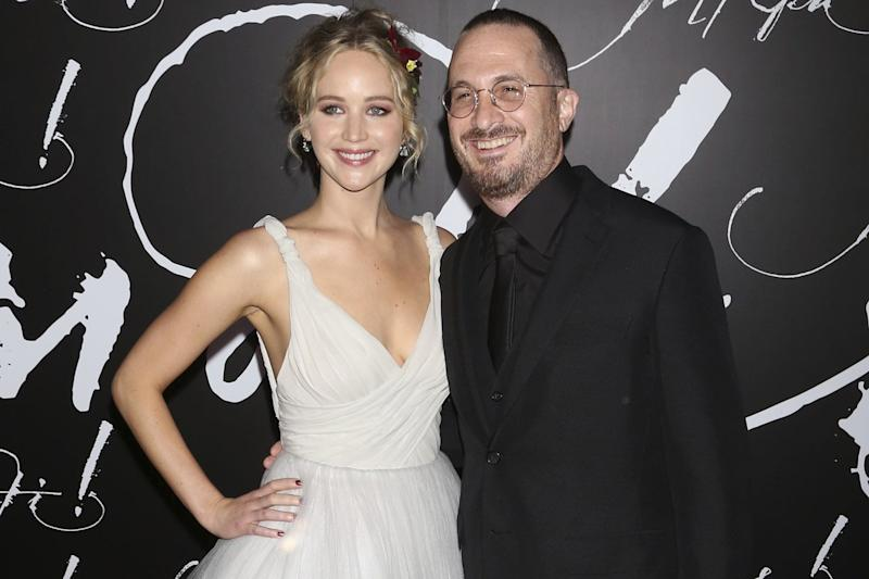 """Jennifer Lawrence and Darren Aronofsky attend the premiere of Paramount Pictures' """"mother!"""" at Radio City Music Hall in New York: Greg Allen/Invision/AP"""