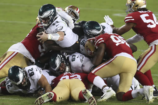 Eagles go from winless to 1st place in NFC East in 1 day