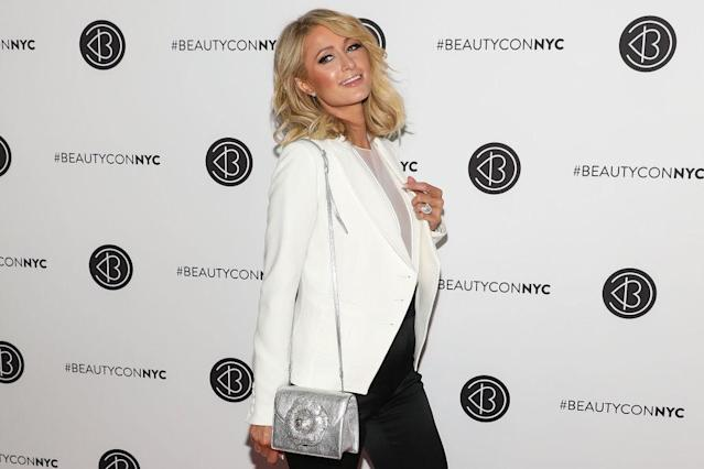 Paris Hilton stopped by BeautyCon to chat about her beauty brands. (Photo: Getty Images)