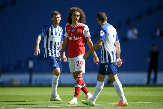Matteo Guendouzi was criticised by Brighton striker Neal Maupay (Mike Hewitt/NMC Pool)