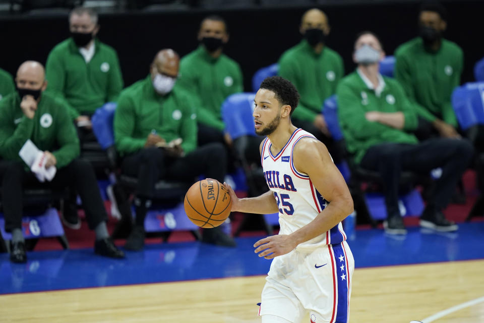 Ben Simmons。(AP Photo/Matt Slocum)
