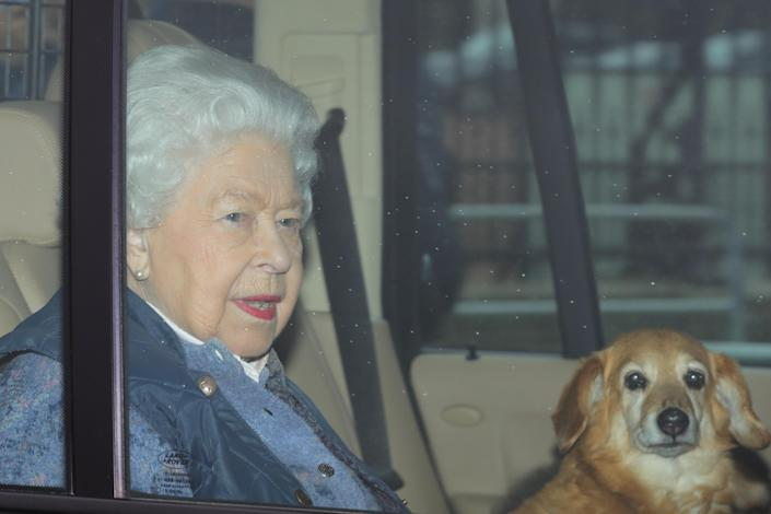 The Queen left Buckingham Palace to go to Windsor on 19 March. (Getty Images)