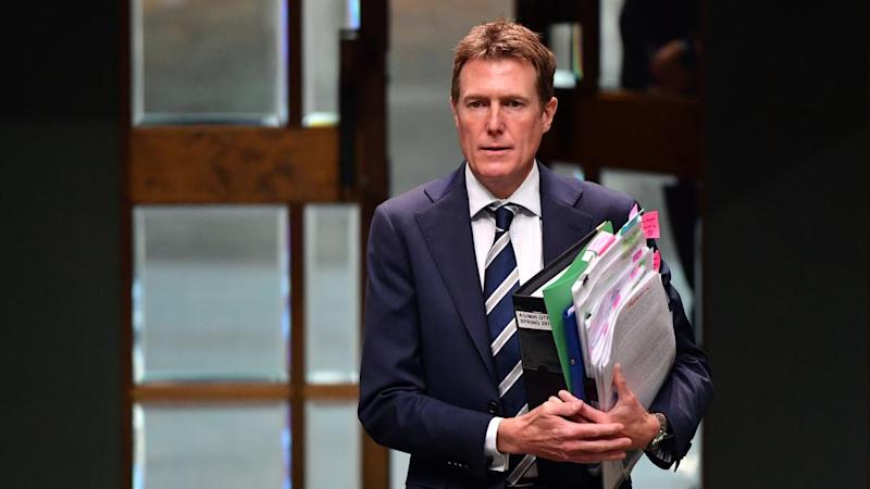 Christian Porter has confirmed he was present during a call made by Scott Morrison to Mick Fuller