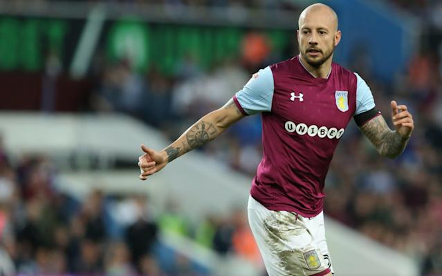 """Alan Hutton is in line for a new contract at Aston Villa, regardless of the £170m Championship promotion shootout with Fulham. Hutton, the Scotland international, is winning his battle to earn a deal at Villa after a remarkable resurgence under Steve Bruce. The 33-year-old is a free agent at the end of this season but it is highly likely that he will be given fresh terms to extend his Villa career. Bruce has held preliminary talks with the defender over his future and it is understood Hutton will be offered terms, whatever the outcome of the play-off final on May 26. """"I thought Alan Hutton, over the two legs, was absolutely outstanding,"""" said Bruce. """"If ever he deserves a contract and if I get my way, he will get one. Since we have moved him to left-back he has gone to a different level. Hutton has enjoyed a new lease of life under Bruce Credit: Getty Images """"He has really enjoyed it and is everything I enjoy in a player. """"He rolls his sleeves up and gives you everything he has got in training and works like a beast. He is first in, and is a manager's delight."""" Villa secured their place in the Wembley final with victory over Middlesbrough, where they will play Fulham for a chance to reach the Premier League. Conor Hourihane, the midfielder, has lit the blue touch paper by warning Fulham their over-exuberant celebrations after the win over Derby will be used as inspiration. Villa will face Fulham in the Championship play-off final Credit: Reuters Many of Fulham's players were lifted off the field by fans while pictures of the triumphant dressing room also circulated on social media. Hourihane said: """"That's been mentioned, don't worry. They celebrated like they won the league or something like that. """"We had calm celebrations, everyone was just in the dressing room high fiving each other. There was nothing major going on in the dressing room at all because there's more business to be done. """"Fulham are a good side, they finished ahead of us in the league, deservedly so."""
