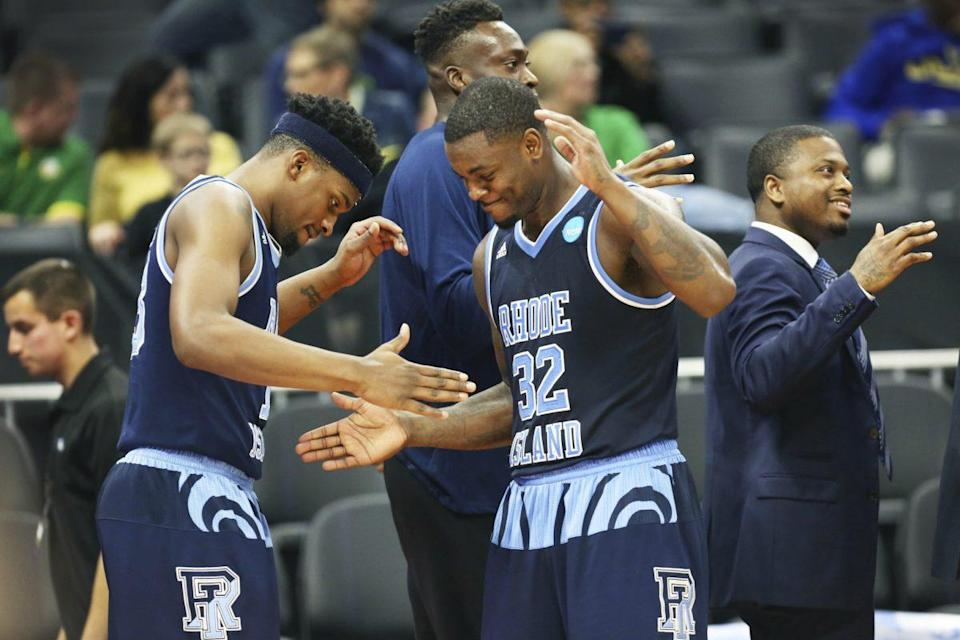 Rhode Island defeated Creighton for its first NCAA tournament win since 1998. (AP)