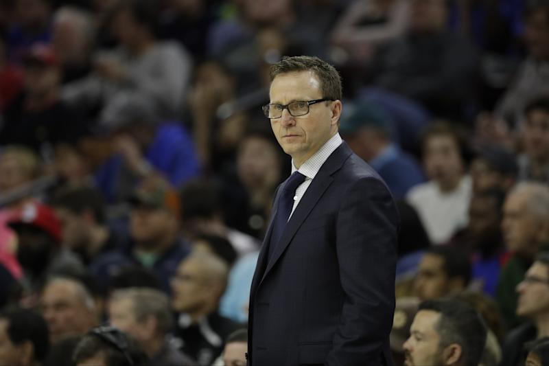 Coach Scott Brooks won 49 games with the Wizards this season. (AP)