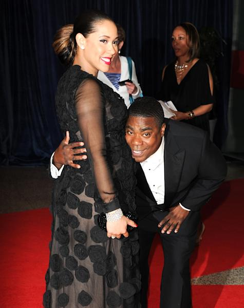 Actor Tracy Morgan and his pregnant girlfriend Meghan Wollover attend the White House Correspondents' Dinner at the Washington Hilton on Saturday April 27, 2013 in Washington. (Photo by Evan Agostini/Invision/AP)