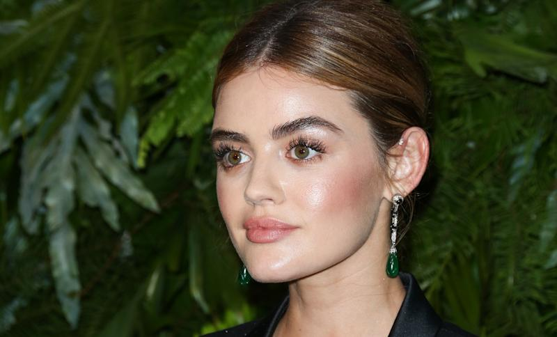 Lucy Hale attends an event on June 12. She talks about sexual assault in Haute Living magazine's latest issue.