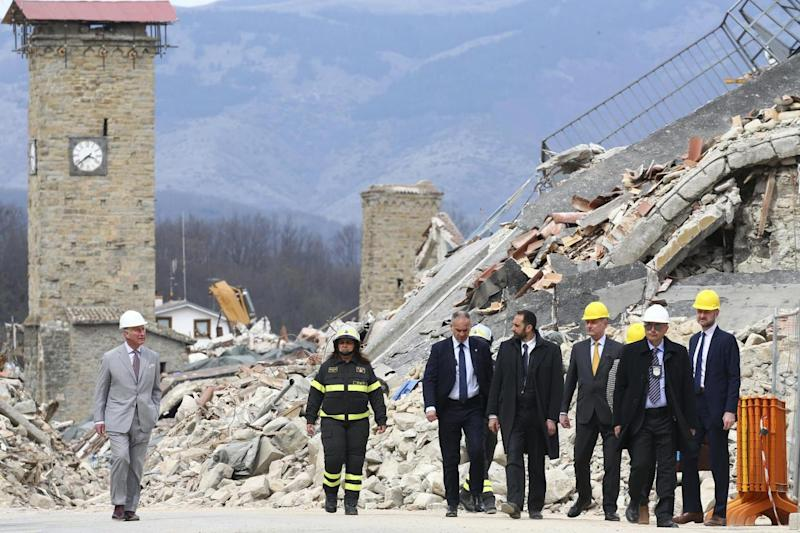 Amatrice: Nearly 300 people died in the earthquake (AP)