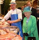 <p>The queen seems to be enjoying her visit to the English Market in Cork, Ireland, but fish monger Pat O'Connell is legitimately having the time of his life.</p>