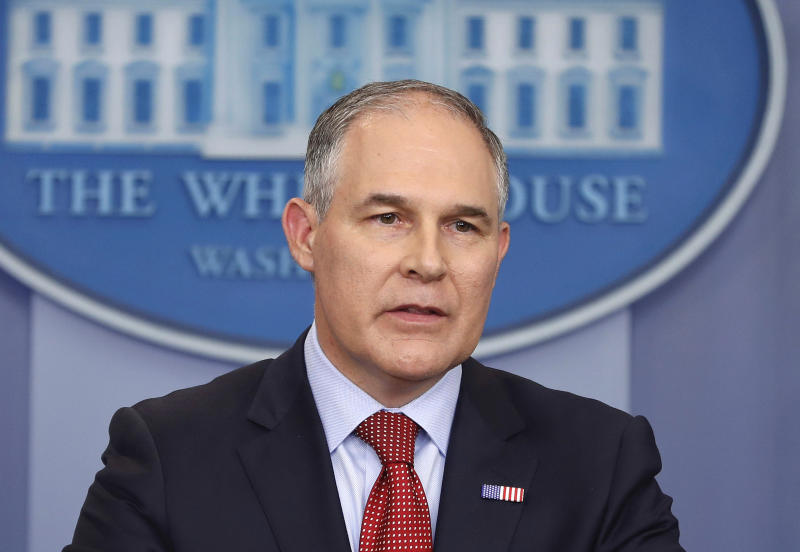 EPA chief defends spending on travel and soundproof booth