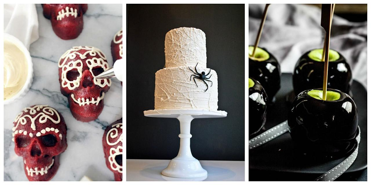 """<p>Whether you're hosting an <a href=""""http://www.townandcountrymag.com/the-scene/parties/g903/elegant-halloween-party/"""" target=""""_blank"""">elegantly eerie dinner party for adults</a> or throwing a kid-filled costume party, dessert is one thing that should be a menu essential. Need a little inspiration? Here, find recipes for the best cupcakes, cookies, cakes and more to serve this Halloween. Trust us—they're to die for. </p>"""