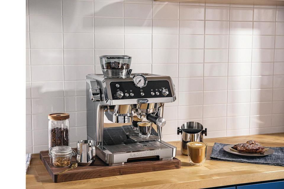 """<p>Mornings can be chaotic – which is why your coffee needs to be exactly right. La Specialista by De'Longhi is a beautifully designed espresso machine that allows you to handcraft consistently great espresso-based drinks from the comfort of your home. It's espresso made right. <a class=""""link rapid-noclick-resp"""" href=""""https://www.amazon.com/DeLonghi-EC9335M-Specialista-Americano-Stainless/dp/B07QMWZ6PT?tag=syn-yahoo-20&ascsubtag=%5Bartid%7C10057.g.34669800%5Bsrc%7Cyahoo-us"""" rel=""""nofollow noopener"""" target=""""_blank"""" data-ylk=""""slk:www.amazon.com"""">www.amazon.com</a> </p>"""