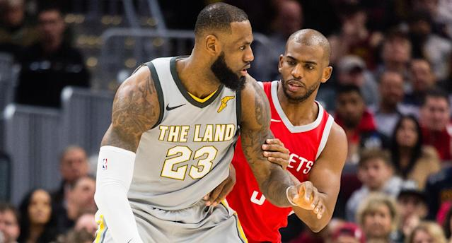 While Chris Paul is reportedly working hard to recruit LeBron James to Houston, Stephen A. Smith says that Paul believes James prefers L.A. (Getty)