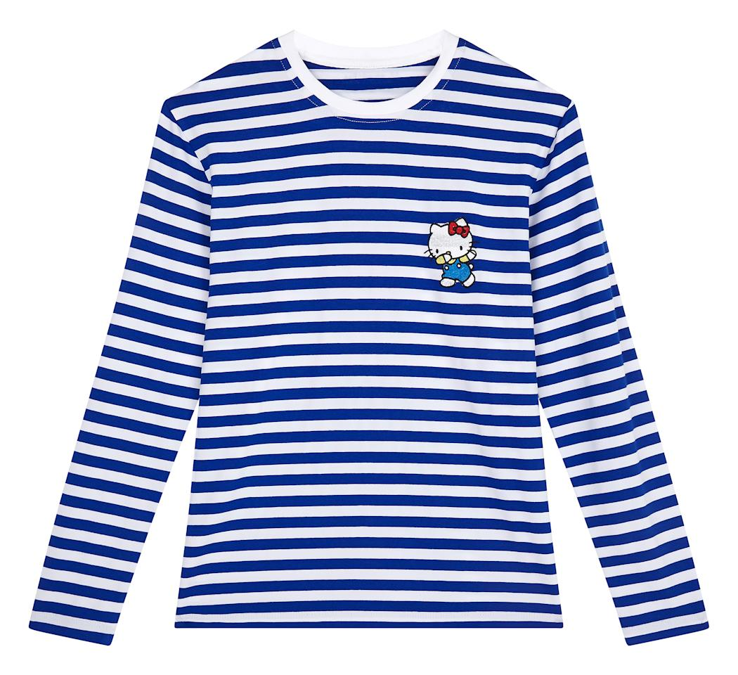"<p>ASOS x Hello Kitty Breton stripe long sleeve top, £25</p><p><a rel=""nofollow"" href=""http://www.asos.com/women/"">COMING SOON</a></p>"