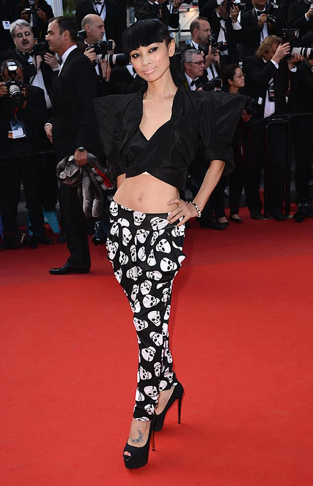 """CANNES, FRANCE - MAY 21:  Bai Ling attends the """"Behind The Candelabra"""" Premiere during the 66th Annual Cannes Film Festival at Grand Theatre Lumiere on May 21, 2013 in Cannes, France.  (Photo by Ian Gavan/WireImage for Electrolux)"""