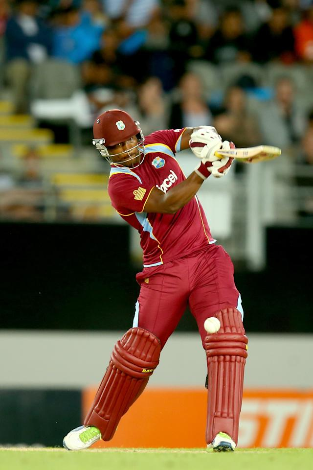 AUCKLAND, NEW ZEALAND - JANUARY 11: Johnson Charles of the West Indies bats  during the first T20 between New Zealand and the West Indies at Eden Park on January 11, 2014 in Auckland, New Zealand.  (Photo by Phil Walter/Getty Images)