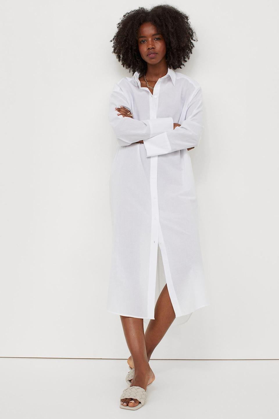 <p>This <span>Oversized Shirt Dress</span> ($25) will make you look put-together, especially on days when you don't really feel like getting dressed.</p>