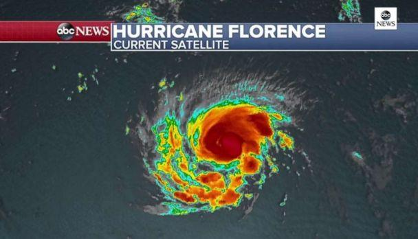 PHOTO: Florence continues to strengthen and an eye is beginning to form which is now visible on satellite. (ABC News)