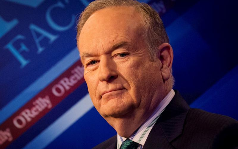 Fox News Channel host Bill O'Reilly poses on the set of his show
