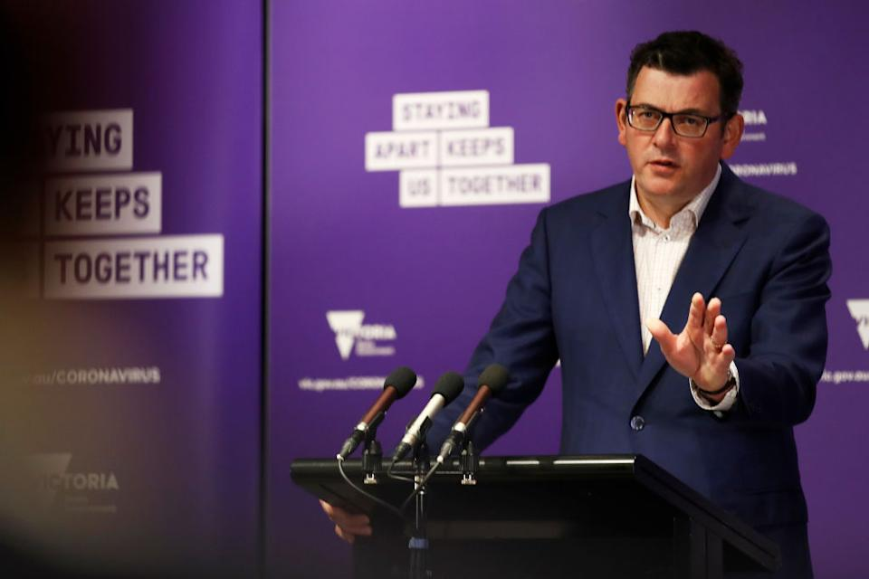 Premier Andrews offered a full-fledged defence of the decision on Monday. Source: Getty