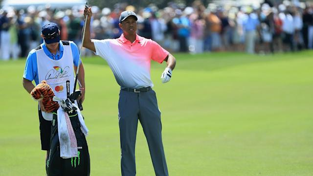 Tiger Woods didn't have his best stuff Friday at the Arnold Palmer Invitational, but he still summoned a little magic at Bay Hill.