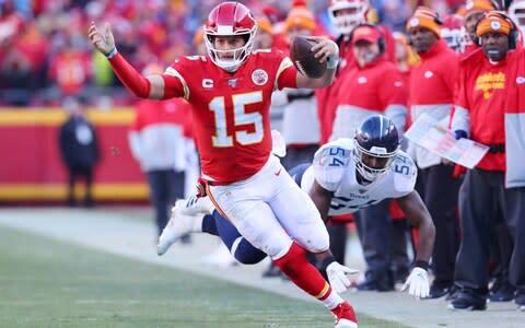 <span>Mahomes rushed for a touchdown of his own</span> <span>Credit: Getty images </span>