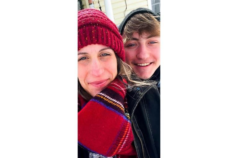 Dylan Brandt (R, here with his mother Joanna), is a 15-year-old from Arkansas who is undergoing testosterone treatment