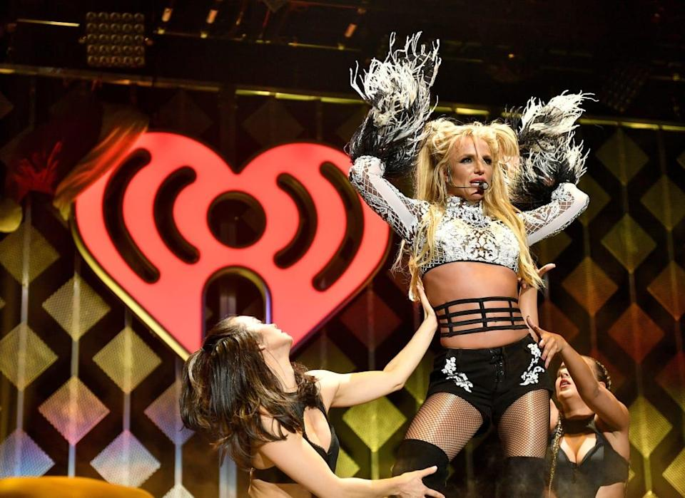 """<div class=""""inline-image__caption""""><p>Britney onstage during 102.7 KIIS FM's Jingle Ball 2016.</p></div> <div class=""""inline-image__credit"""">Mike Windle/Getty</div>"""