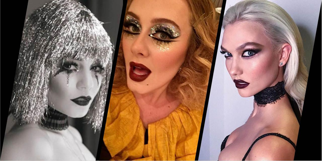 <p>From spooky, kooky costume make-up to 70s disco dolly vibes, here's how the A-list executed their beauty looks last Halloween.</p>
