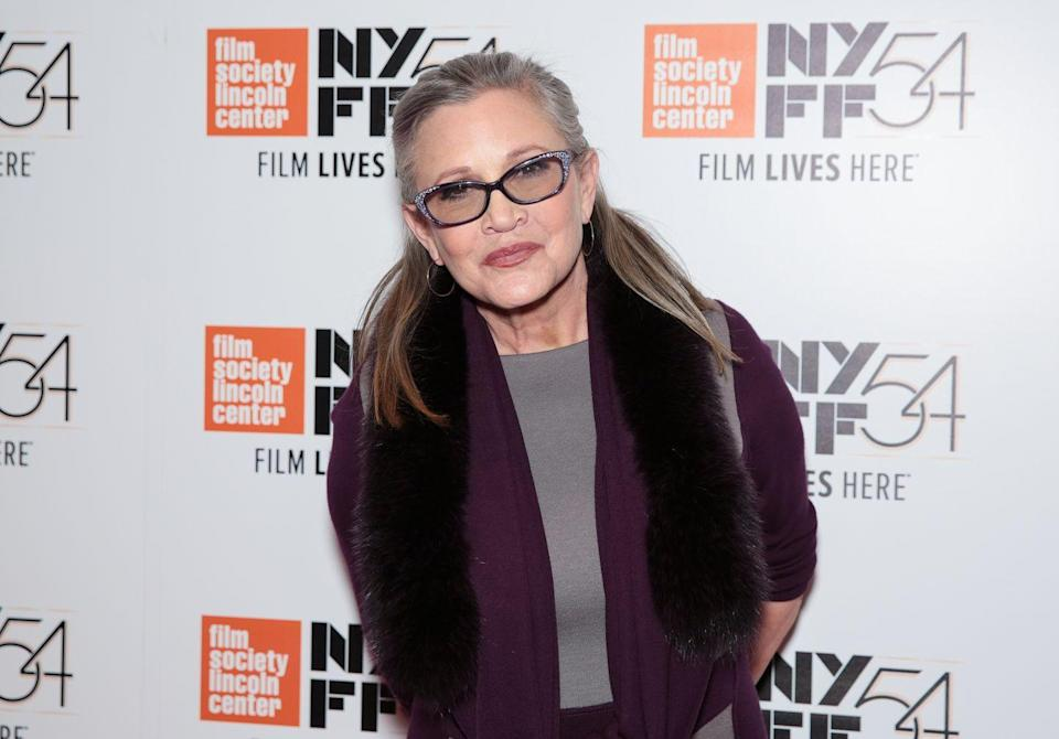 "<p>On December 27, 2016, Carrie passed away at the age of 60. Her death was ruled ""undetermined,"" although it is said to be caused by <a href=""https://apnews.com/fd993597375f40c7b2d430743c6be2b6"" rel=""nofollow noopener"" target=""_blank"" data-ylk=""slk:sleep apnea"" class=""link rapid-noclick-resp"">sleep apnea</a> and a host of underlying factors. </p><p>In a <a href=""https://www.peoplemagazine.co.za/celebrity-news/international-celebrities/carrie-fishers-daughter-billie-lourd-emotionally-responds-to-actress-autopsy-report/"" rel=""nofollow noopener"" target=""_blank"" data-ylk=""slk:statement to"" class=""link rapid-noclick-resp"">statement to </a><em><a href=""https://www.peoplemagazine.co.za/celebrity-news/international-celebrities/carrie-fishers-daughter-billie-lourd-emotionally-responds-to-actress-autopsy-report/"" rel=""nofollow noopener"" target=""_blank"" data-ylk=""slk:People"" class=""link rapid-noclick-resp"">People</a></em>, her daughter Billie Lourd wrote, ""My mom battled drug addiction and mental illness her entire life. She ultimately died of it. She was purposefully open in all of her work about the social stigmas surrounding these diseases. She talked about the shame that torments people and their families confronted by these diseases. I know my Mom, she'd want her death to encourage people to be open about their struggles. Seek help, fight for government funding for mental health programs.""</p>"