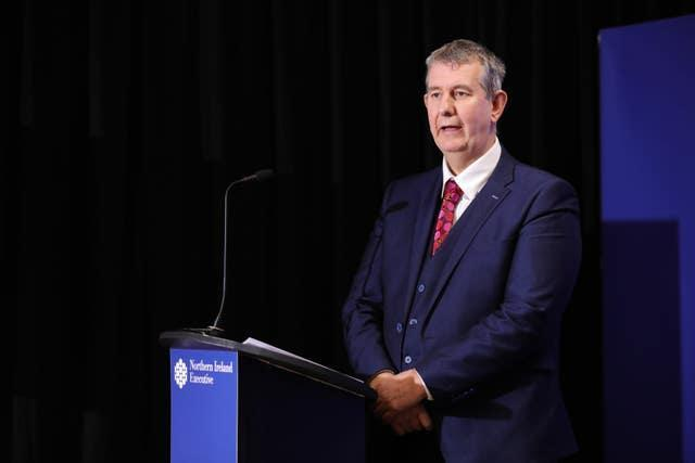 Stormont Agriculture Minister Edwin Poots
