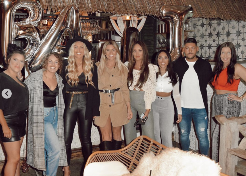 Charlotte Crosby and her friends