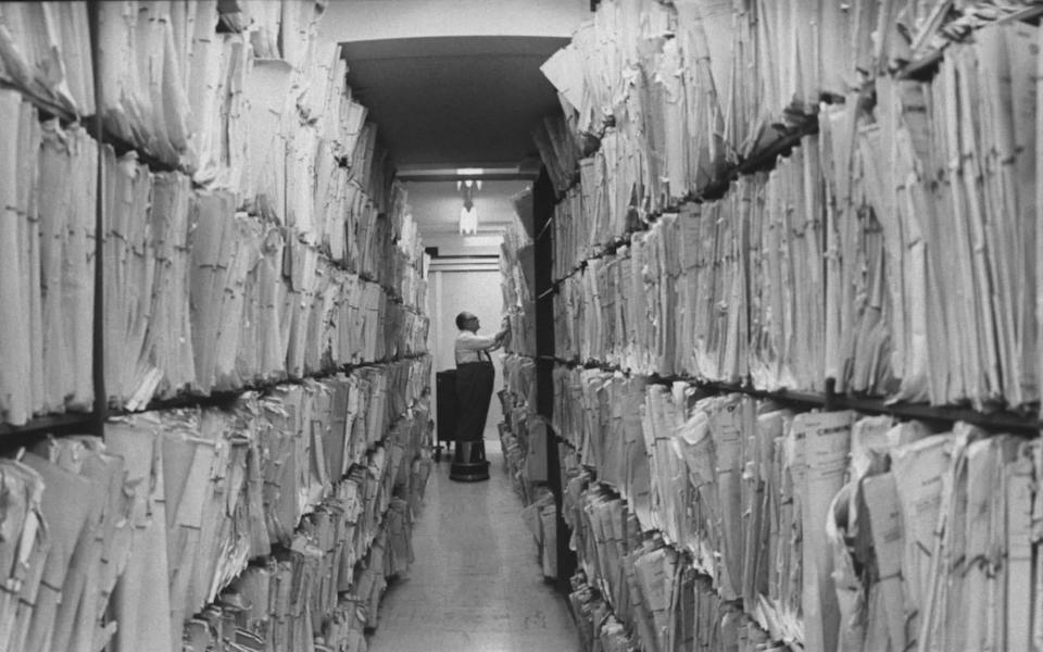 Criminal records file at Scotland Yard. (Photo by Loomis Dean/The LIFE Picture Collection via Getty Images) (1967) - Getty