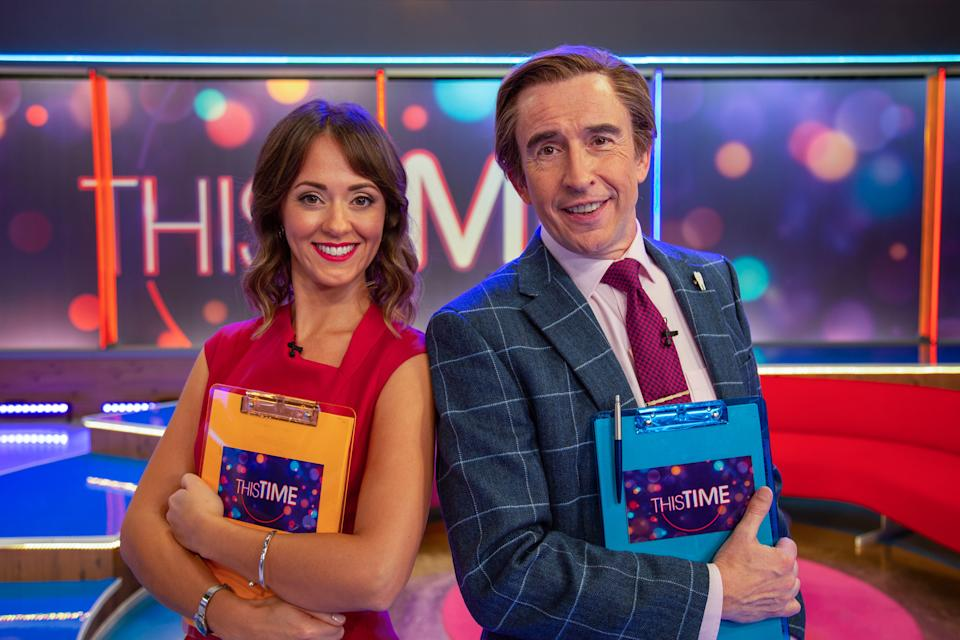 Jennie (Susannah Fielding) and Alan Partridge (Steve Coogan) in This Time With Alan Partridge S2 (Baby Cow/Gary Moyes)