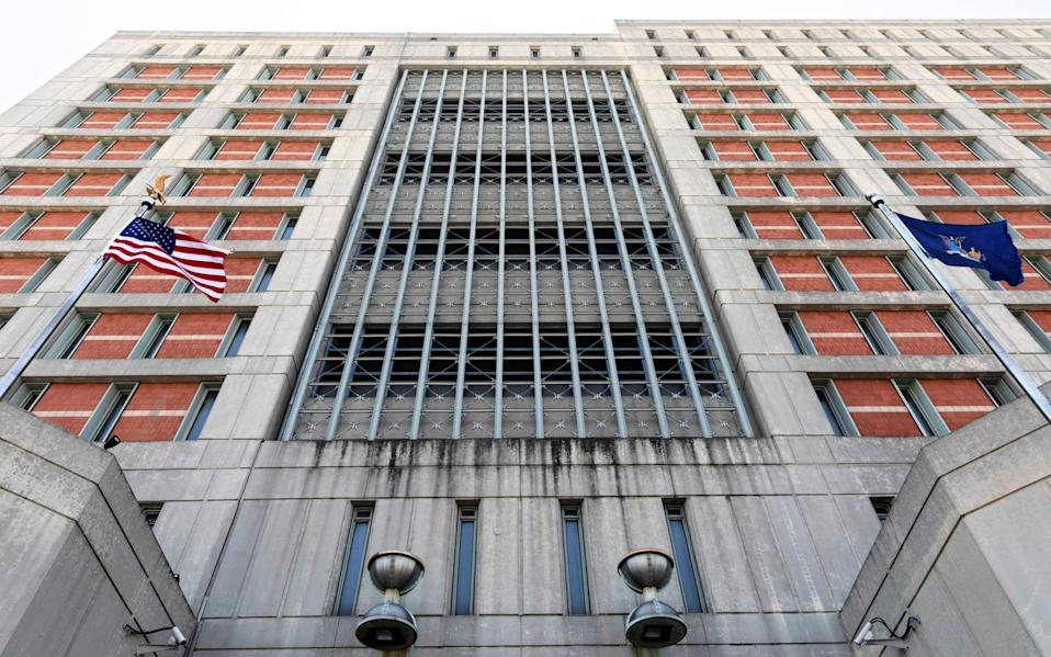The Metropolitan Detention Center in Brooklyn, where she is being held - Mark Lennihan /AP