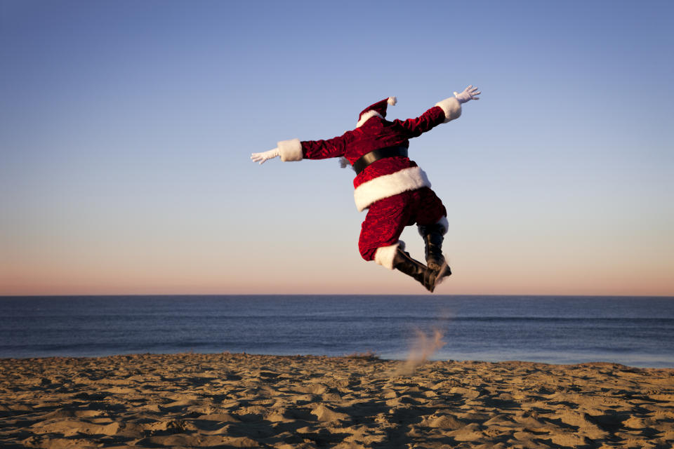 Could Father Christmas be heading to a summer beach near you? (Getty Images)