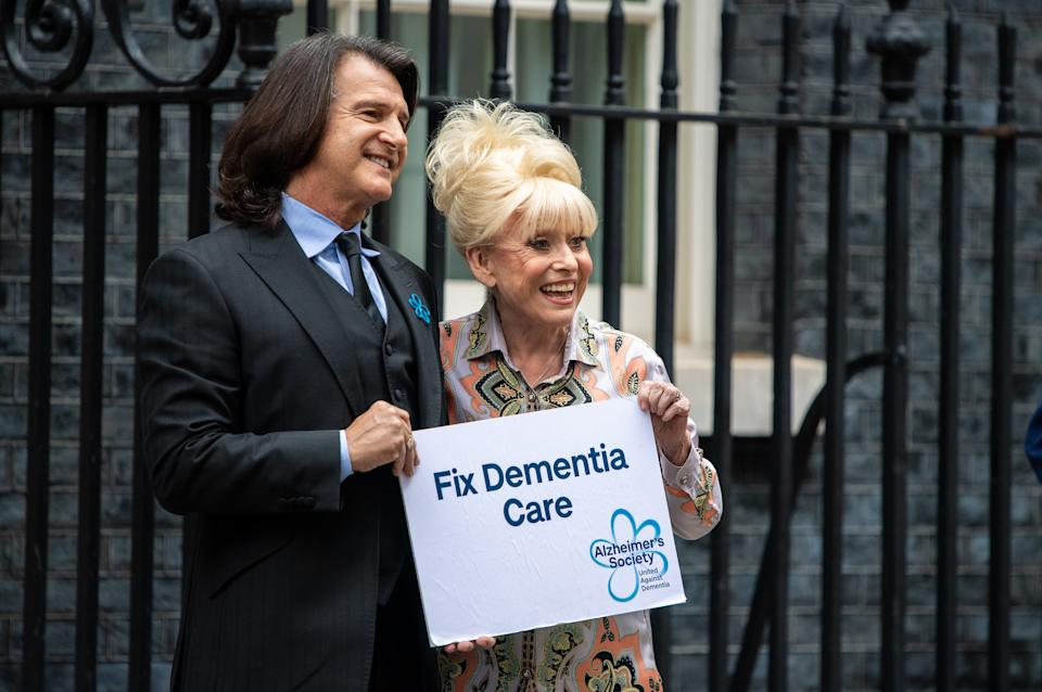 Dame Barbara Windsor and her husband Scott Mitchell supported the Alzheimer's Society. (Photo by Chris J Ratcliffe/Getty Images)
