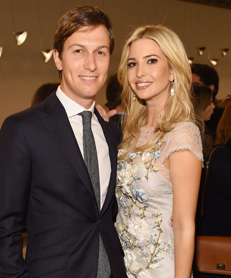 """<strong><h2><h2>Jared Kushner & Ivanka Trump</h2></h2></strong><br>Once a real estate developer and publisher in New York media, Jared Kushner, the son of Jewish immigrants from the USSR, followed in his father-in-law's footsteps and moved to Washington, D.C. with his wife Ivanka Trump. He's now the acting senior advisor for President Donald Trump. <br><br>Kushner originally helped run digital media strategy for the 2016 Trump presidential campaign. Since beginning to work for Trump with his wife Ivanka, there's been much <a href=""""https://www.refinery29.com/en-us/2019/01/220761/ivanka-trump-women-economic-development-initiative"""" rel=""""nofollow noopener"""" target=""""_blank"""" data-ylk=""""slk:controversy around conflicts of interest"""" class=""""link rapid-noclick-resp"""">controversy around conflicts of interest</a>, nepotism, and profiting on <a href=""""https://www.vox.com/policy-and-politics/2018/12/12/18137834/jared-kushner-ivanka-trump-opportunity-zone"""" rel=""""nofollow noopener"""" target=""""_blank"""" data-ylk=""""slk:policy proposals like tax breaks"""" class=""""link rapid-noclick-resp"""">policy proposals like tax breaks</a> that he's heavily advocated for within the administration. <br> <br>Kushner has been extremely influential in <a href=""""https://www.refinery29.com/en-us/2020/04/9653534/jared-kushner-task-force-national-stockpile"""" rel=""""nofollow noopener"""" target=""""_blank"""" data-ylk=""""slk:the administration's coronavirus pandemic"""" class=""""link rapid-noclick-resp"""">the administration's coronavirus pandemic</a> response, where he advised Trump in the first few months of the outbreak that the media was exaggerating the threat of the virus. He and Ivanka, who <a href=""""https://www.jpost.com/omg/trump-was-baffled-by-ivankas-conversion-to-judaism-book-claims-584030"""" rel=""""nofollow noopener"""" target=""""_blank"""" data-ylk=""""slk:converted to Judaism"""" class=""""link rapid-noclick-resp"""">converted to Judaism</a> to marry Kushner, recently chose to <a href=""""https://www.nytimes.com/2020/04/15/us/politics/coronavirus-ivanka-trum"""