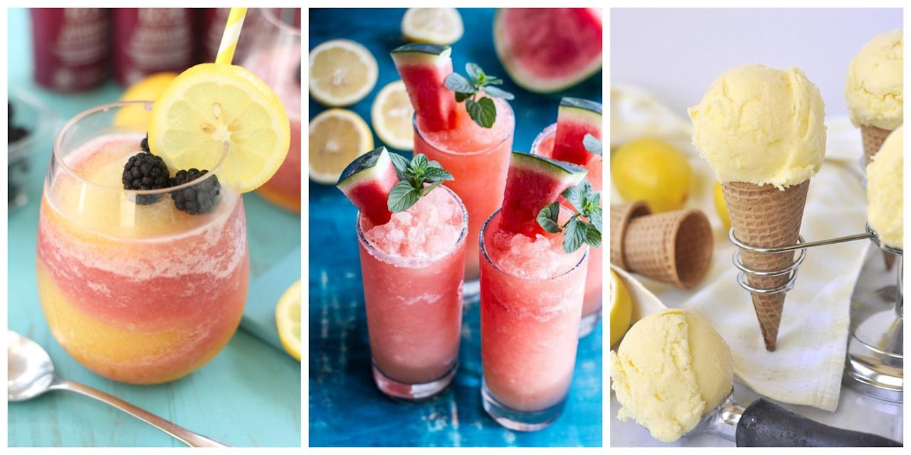 "<p>Plus, try our <a rel=""nofollow"">best ever boozy lemonades</a> and <a rel=""nofollow"">fun twists on classic lemonade</a>.</p>"