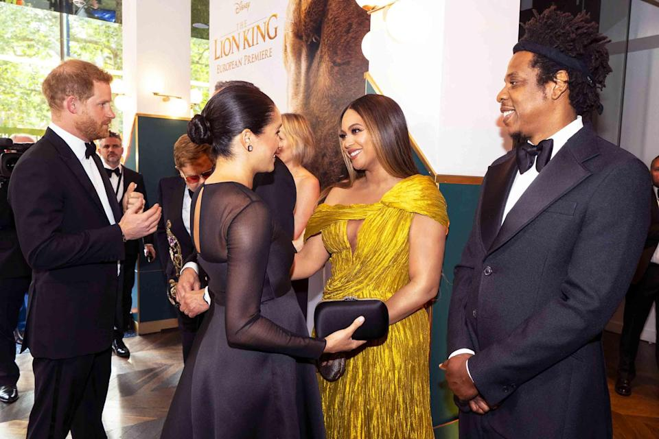 <p>When celebrities meet members of the royal family, they have to follow royal protocol just like the rest of us mortals. From how to respond to an invitation from the Queen to what to wear when they meet her, we're breaking down everything celebrities have to navigate when they find themselves in the royals' orbit. Take it all in, ahead.</p>