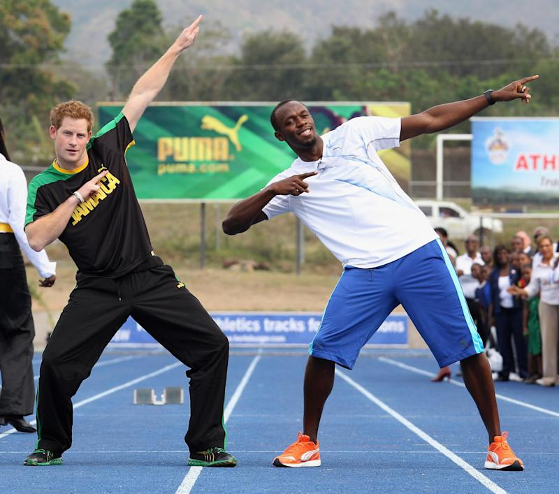 Prince Harry and Usain Bolt in 2012 (Getty Images)
