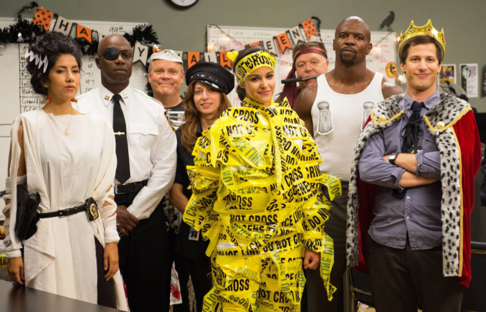 """<p>Choosing just one of <em>Brooklyn 99</em>'s Halloween episodes is a nearly impossible task, but when it comes down to it, the sitcom's yearly tradition really owes itself to the very first—Season 1's """"Halloween."""" It's not just that the episode itself is inventive and hilarious, it's that the bet to prove who is """"The Ultimate Detective/Genius"""" is so effective it spun off one of the greatest running gags in the show's history. </p><p><a class=""""link rapid-noclick-resp"""" href=""""https://go.redirectingat.com?id=74968X1596630&url=https%3A%2F%2Fwww.hulu.com%2Fseries%2Fbrooklyn-nine-nine-daf48b7a-6cd7-4ef6-b639-a4811ec95232%3Fcmp%3D7958%26gclsrc%3Daw.ds%26ds_rl%3D1263136%26gclid%3DCj0KCQjwtZH7BRDzARIsAGjbK2Y5R6Oz9AWgy-r62Ur6opWg0doAJlKjJzgBIpLbjL-BJSsH4fn3kFYaAuQJEALw_wcB&sref=https%3A%2F%2Fwww.redbookmag.com%2Fabout%2Fg34171638%2Fbest-halloween-tv-shows-episodes%2F"""" rel=""""nofollow noopener"""" target=""""_blank"""" data-ylk=""""slk:Watch now"""">Watch now</a></p>"""